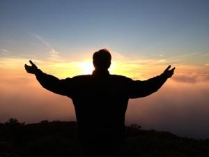 prayer-sunset